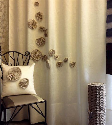 tende con applicazioni tenda in lino con applicazioni fiori vergnano tendaggi