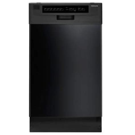 frigidaire 18 in front dishwasher in black with