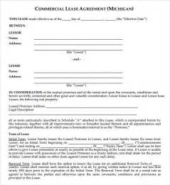 commercial property lease agreement free template commercial lease agreement 9 free sles exles