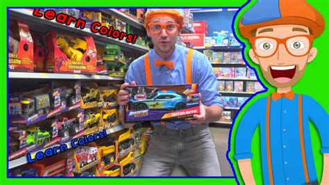 e7 themes store learn colors with blippi toy store in 4k educational