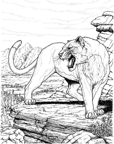 big hard coloring pages 20 best images about big cat coloring pages on pinterest