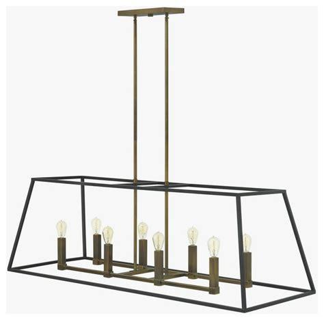rectangular chandelier lighting hinkley 3338bz fulton eight light rectangular foyer
