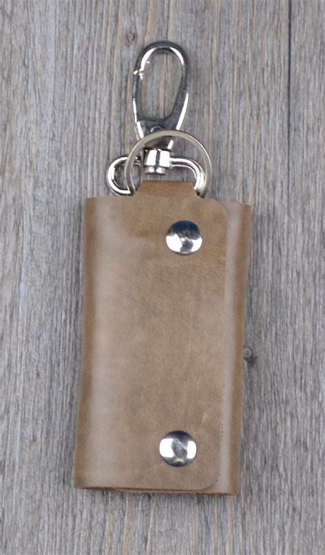 Handmade Leather Key Holder - knicker vintage handmade leather key holder wallet