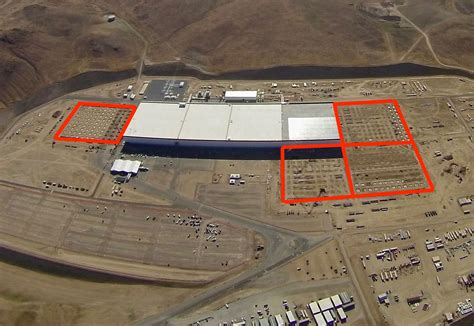 Tesla Giga Factory Location New Aerial Photos Of Tesla Gigafactory 1 Reveal Upcoming