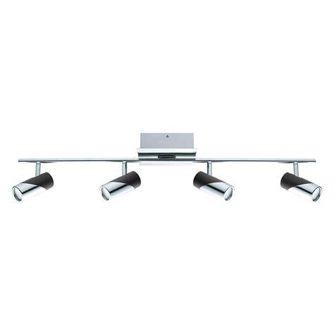 led track lighting kits eglo armento 1 led 4 light satin nickel track lighting kit