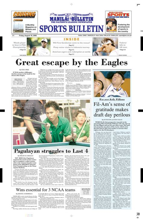 sports section of a newspaper newspaper layout by ailcas on deviantart