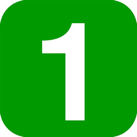 Green Mba Number 1 by File Number 1 In Green Rounded Square Svg Wikibooks