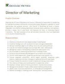 Marketing Coordinator Description Sles by Director Of Marketing Description
