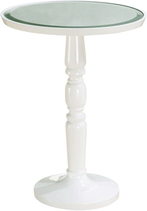 round white accent table gigi white round end table p020040 pulaski