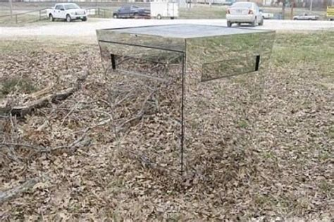 mirror deer blind deer blind made from inward sloping trapezoidal mirrors awesome tree stand ideas
