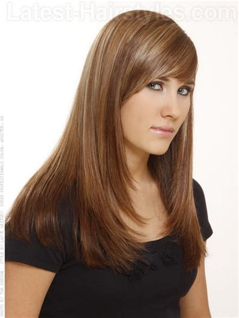 a frame hairstyles with bangs face frame haircuts for long hair