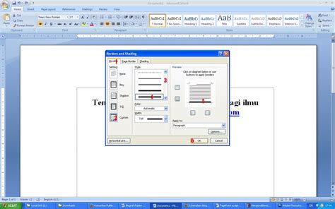 tutorial membuat garis kop surat cara membuat garis kop surat di word 2007