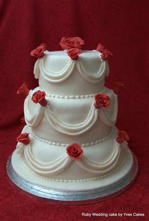 Ruby Wedding Cakes by Ruby Wedding Cake 40th Anniversary Ideas