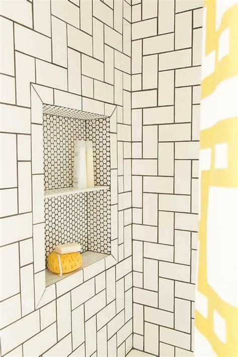 pattern tiles pinterest simple white subway tiles take on a whole new look when