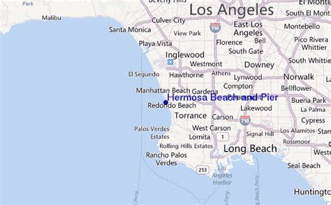 california map hermosa hermosa and pier surf forecast and surf reports cal