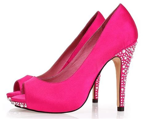 amazing pink high heel shoes collection for