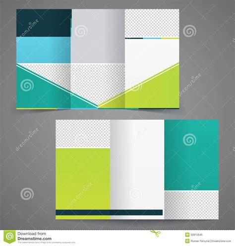 Two Fold Brochure Templates Free by Tri Fold Business Brochure Template Two Sided Template