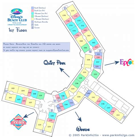 disney beach club floor plan parkinfo2go maps of beach club villas dvcinfo com