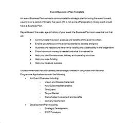 event planning business plan template event planning template 5 free word pdf documents