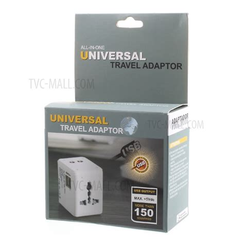 Travel Adapter Universal Eu Uk Us Dengan 1a Usb Port 2 1a dual usb universal travel wall charger power adapter converter au uk us eu black tvc