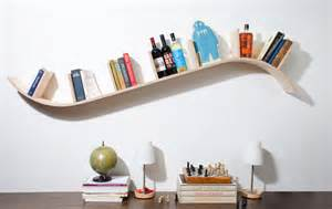 Quirky Bookshelves - curved floating shelf 5 cool design ideas floating shelf