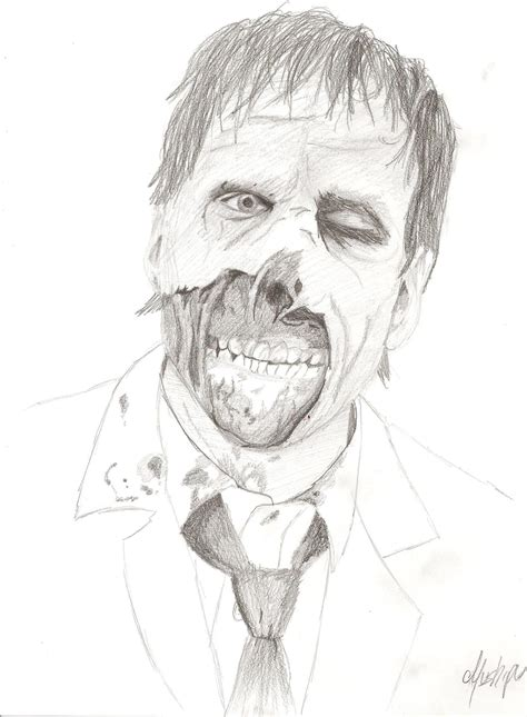 imagenes de dibujos a lapiz de zombies dibujos de zombies faciles imagui