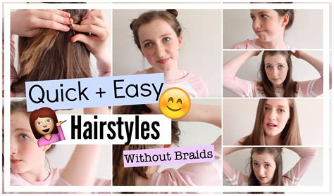 easy hairstyles for school no braids easy hairstyles without braids