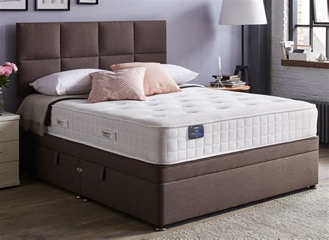 ottoman double beds uk therapur actigel plus 1600 ottoman bed firm mink 4 6