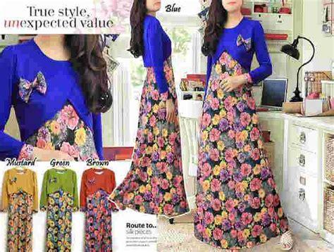 Gamis Syar I Crepe Kode 588 maxi dress motif bunga g588 butik jingga