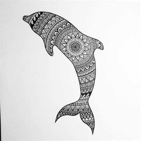 dolphin pattern drawing zentangle dolphin zentangle dolphin black white