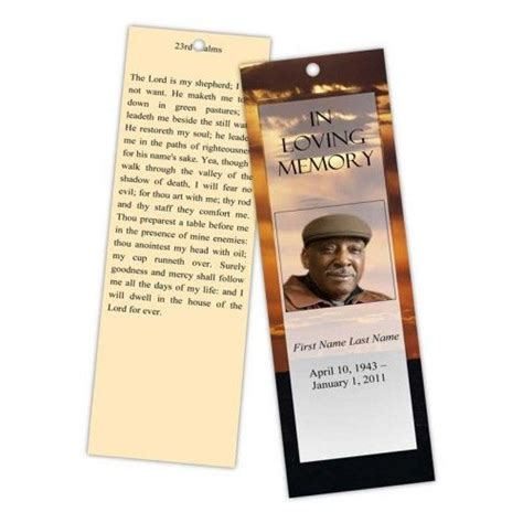 Funeral Bookmarks Template Free by 12 Best Memorial Bookmarks Printable Templates Images On