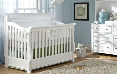 White Madison Sleigh Convertible Crib Twinkle Twinkle Convertible White Cribs