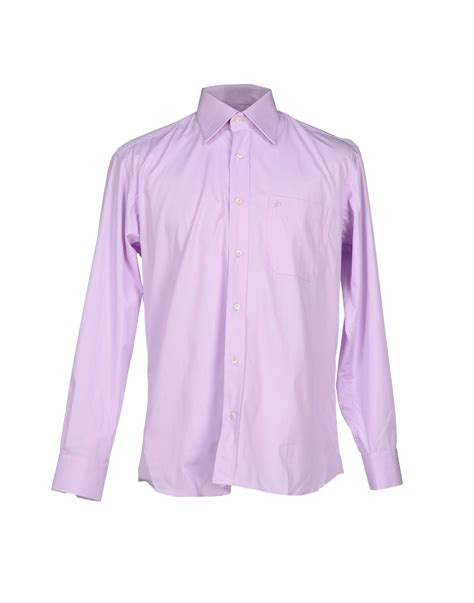 Purple Light Shirt roccobarocco shirt in purple for light purple lyst