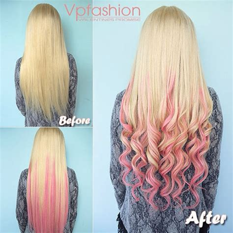 long brown hair with pink dip dye brown hair pink dip dye