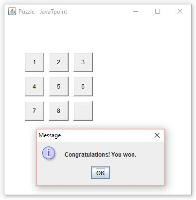grid layout javatpoint puzzle game in java with source code javatpoint