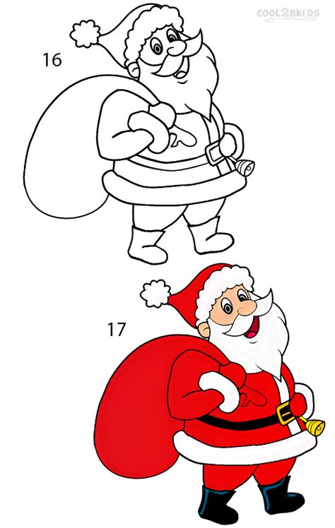 best drawi g of santa clause with chrisamas tree how to draw santa clause step by step pictures cool2bkids