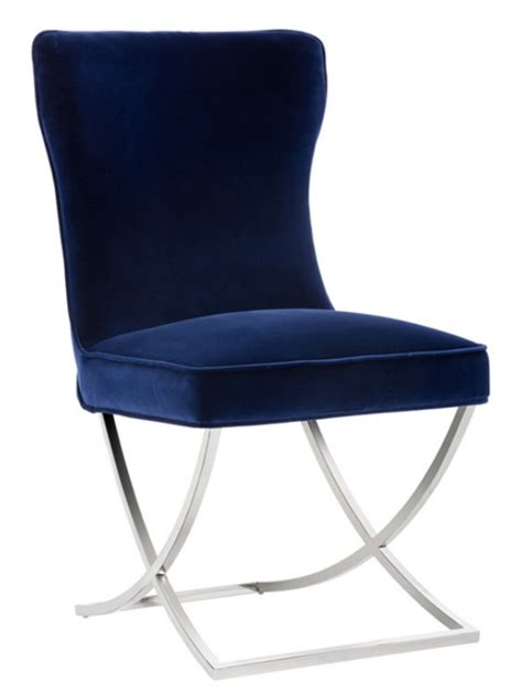 Navy Velvet Dining Chairs 8 Velvet Dining Chairs In Navy Blue Furniture