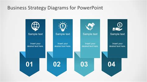 Free Business Strategy Diagram Powerpoint Slidemodel Business Strategy Template Powerpoint