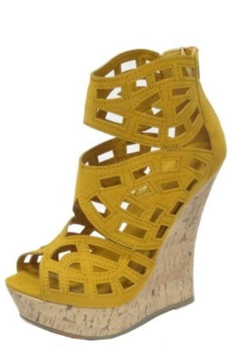 mustard wedge sandal from new jersey by the vip boutique