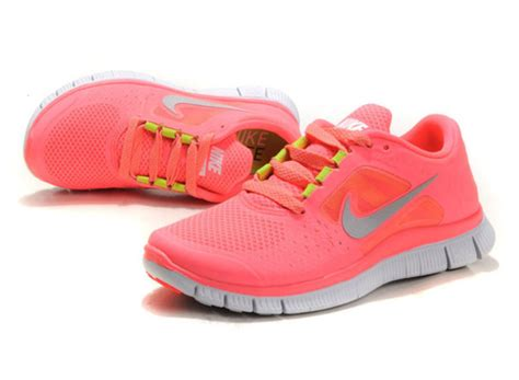 shoes coral sneakers trainers running neon neon pink