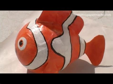 How To Make A Paper Mache Fish - how to make a paper mache nemo clown fish