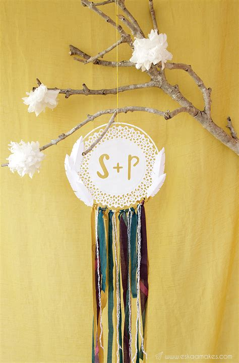 How To Make A Paper Dreamcatcher - how to make paper doily dreamcatcher 187 es kaa makes