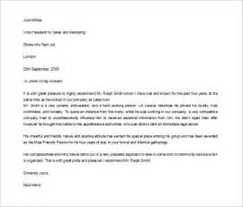 Student Letter Of Recommendation Template 9 Character Letters Of Recommendation Free Sample
