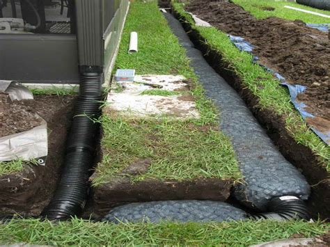How To Fix Drainage Problem In Backyard How To Up A French Drain Installation Select