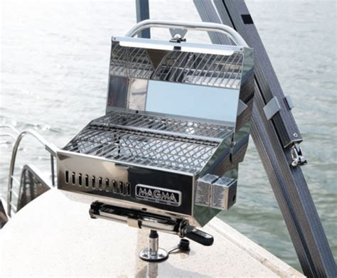 boat rail grill 2018 aurora le options manitou pontoon boats