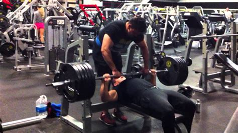 500lb bench press npc bodybuilder amin elfawal bench press 500 lbs at gold s