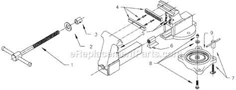 diagram of a bench vice wilton 206m2 parts list and diagram ereplacementparts com