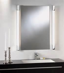 lights for bathroom mirrors mirror light square edges