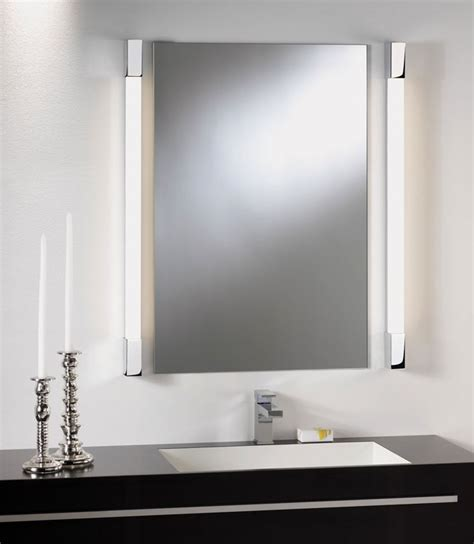light mirror bathroom over mirror light square edges