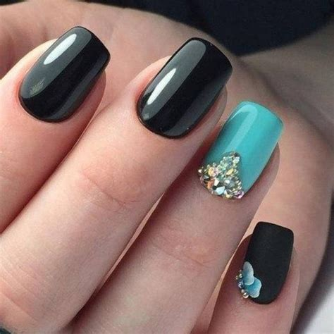 easy nail art with green and black nail art 1774 best nail art designs gallery
